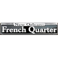 New Orleans French Quarters Tin Metal Street Sign Bourbon Street NOLA G86