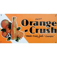 Drink Orange Crush Tin Metal Sign Soda Pop Cola Kitchen Garage Classic Ad C31