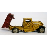 Cast Iron Toy Dump Truck Vintage Style Home Kids Bedroom Office Decor pickup