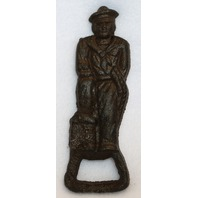 Cast Iron Navy Sailor Bottle Opener Pop Top Kitchen Garage Beer Decor