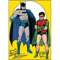 Batman & Robin The Wonder Boy FRIDGE MAGNET DC Comics Vintage Style H22