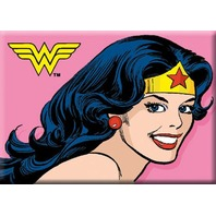 DC Comics Wonder Woman Pink Smiling Logo FRIDGE MAGNET Justice League J16
