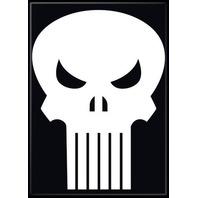 The Punisher Marvel Comics Black & White FRIDGE MAGNET Skull Logo S12