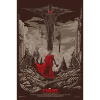 Mondo Thor Movie Poster by Ken Taylor Marvel Comics Avengers Limited Edition