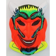 Vintage Devil Halloween Mask 1960s Zest Bar Demon Costume
