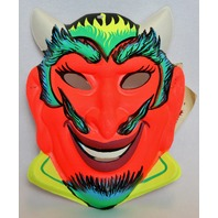 Vintage Devil Halloween Mask 1960s Zest Bar Demon Costume