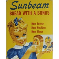 Sunbeam Bread Vintage Styled Advertisement Tin Metal Sign Ad Grocery Kitchen C35
