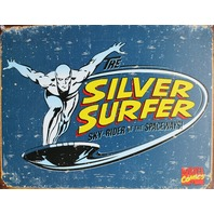 Marvel Comics Silver Surfer Tin Metal Sign Comic Book Fantastic Four Avengers