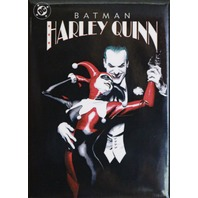 Batman Harley Quinn Joker Fridge Magnet DC Comics Black White Red Jester Comic