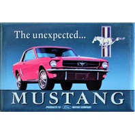 The Unexpected Ford Mustang FRIDGE MAGNET Shelby Cobra Pony Logo DESM H7