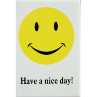 Have a Nice Day FRIDGE MAGNET Smile Face 70's Logo Funny Humor DESM