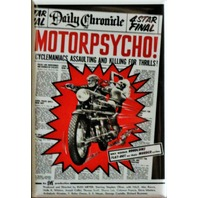 Motorpsycho Movie Poster FRIDGE MAGNET Motorcycle Biker B Flick Horror Film