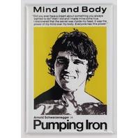 Arnold Schwarzenegger Pumping Iron Movie Poster FRIDGE MAGNET Body Building  Weight Lifting