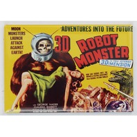 3D Robot Monster Movie Poster FRIDGE MAGNET Cult Classic Sci Fi Vintage Style