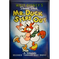 Walt Disneys Donald Duck Mr Duck Steps Out Movie Poster FRIDGE MAGNET Cartoon