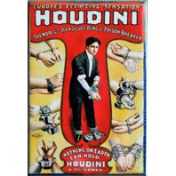 Retro Vintage Style Houdini FRIDGE MAGNET Classic Advertisement  AD Magician Magic
