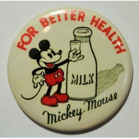 Walt Disney Mickey Mouse For Better Health Milk FRIDGE MAGNET Classic Vintage Style  Cartoon