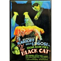 Edgar Allan Poe The Black Cat Movie Poster FRIDGE MAGNET Karloff Lugosi