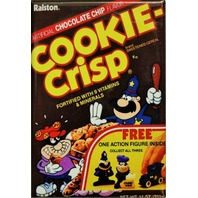 Chocolate Chip Cookie Crisp FRIDGE MAGNET Vintage Style AD Cereal Box Kitchen i5