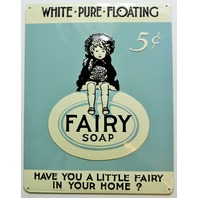 Fairy Soap Premium Embossed Tin Sign Ande Rooney Vintage Style Classic Vintage Style AD FF11