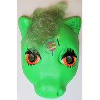 Vintage My Little Pony  Halloween Mask Green Plastirama Hasbro Bradley Rare Import