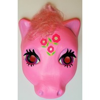 Vintage My Little Pony  Halloween Mask Pink Flowers Plastirama Hasbro Bradley Rare Import