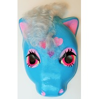 Vintage My Little Pony  Halloween Mask Blue Hearts Plastirama Hasbro Bradley Rare Import