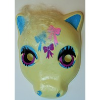 Vintage My Little Pony  Halloween Mask White Bows Plastirama Hasbro Bradley Rare Import