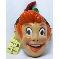 Vintage Walt Disney Peter Pan Halloween Mask 1980's 80's Cesar Costume Rare