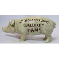 Cast Iron Piggy Bank Vintage Style Pig Hog Farm Animal Barn Country