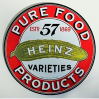 Heinz 57 Pickle Tin Metal Embossed Sign High Quality Restaurant Kitchen Decor Ande Rooney