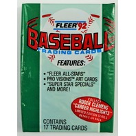 Vintage 1992 Fleer Baseball Trading Cards MLB Wax Pack 92 All-Stars Pro Visions