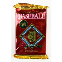 Vintage 1992 Donruss Baseball Trading Cards MLB Wax Pack 92 Series 2 Leaf