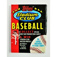 Vintage 1993 Topps Stadium Club Baseball Trading Cards MLB 93 Series 1