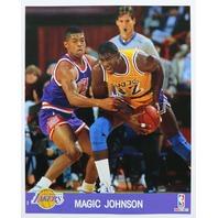 Vintage 1990 NBA Hoops Action Photos Large Basketball Cards Jordan Bird Magic Lot of 5