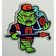 Clark Orr Creature Monster Sticker Original colors Ricou Mascot