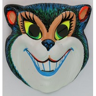 Vintage Smiling Cat Halloween Mask Zest 1960's 60's Black Light Reactive