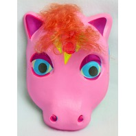 Vintage My Little Pony  Halloween Mask Pink Hair Ice Cream Plastirama Hasbro Bradley Rare Import