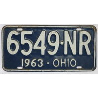 Vintage 1963 License Plate Ohio Hot Rod Muscle Car Historical Vehicle Garage 63