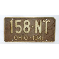 Vintage 1941 License Plate Ohio State Hot Rod Muscle Car Historical Garage 41