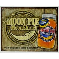 Moon Pie MoonShine Tin Sign Moon Shine Bootleg Bar Garage Alcohol