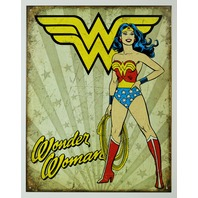 Vintage Style Wonder Woman Tin Sign DC Comics Justice League Retro D21