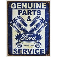 Ford Genuine Parts and Services Tin Sign F Series Truck Mustang Fusion F62
