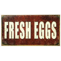 Fresh Eggs Tin Sign Farm Country Kitchen Decor Farmers Market Breakfast E8