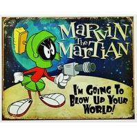 Marvin The Martian Tin Sign Looney Tunes Warner Bros Cartoon Comic B23