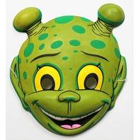 Vintage Green Alien Halloween Mask Topstone Space Sci Fi Martian Mars
