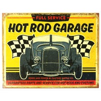 Full Service Hot Rod Garage Tin Metal Sign Rat Rod Race Car Mechanic Car Show B97