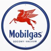 Mobilgas Socony Vacuum Tin Metal Signs Pegasus Standard Oil Gas Gasoline Logo Ad B16