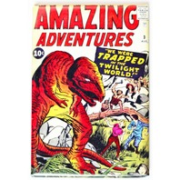 Amazing Adventures Comic Book FRIDGE MAGNET Sci Fi Issue 3 Dinosaur T Rex