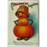Halloween Greeting Jack O Lantern FRIDGE MAGNET Vintage Style Greetings Card o23